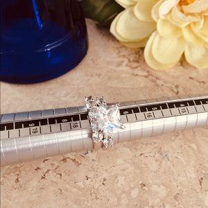 NWOT - Beautiful 925 S.S Princess Cut Wedding Set